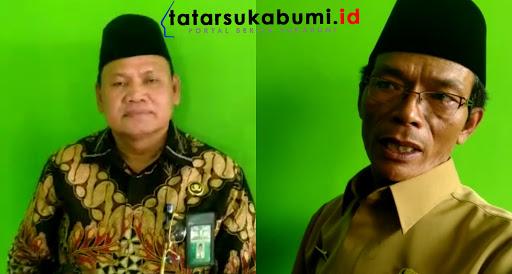 Kabid Urais dan Bimsyar Kanwil Jabar Aldis (kiri) dan Kepala Kemenag Kabupaten Sukabumi Abas Resmana// Foto : Dian Syahputra Pasi