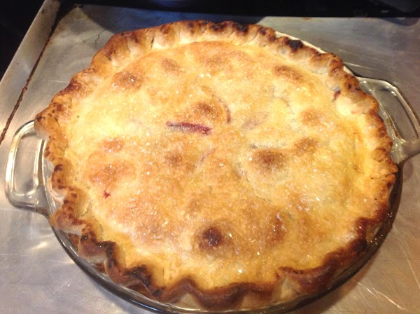 You can also use canned evaporated milk to brush on top of pie before...