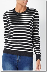 Weekend by John Lewis Cashmere Stripe Jumper