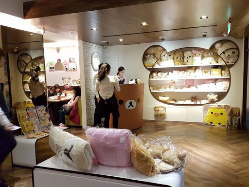 Merchandise store at Rilakkuma Cafe in Taipei Taiwan