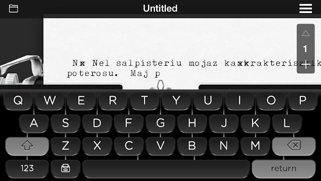 writing app typewriter sounds