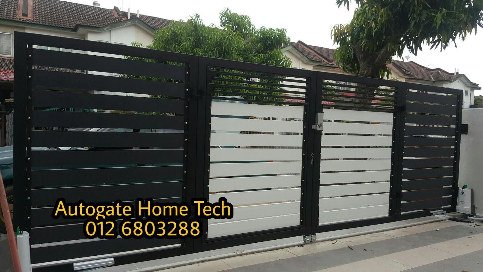 AUTOMATIC GATE SYSTEM: PAGAR RUMAH MODEN DESIGN