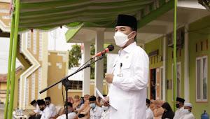 Kegiatan Upacara Hari Amal Bhakti Ke-75 Kementerian Agama Tahun 2021 Di Halaman Kantor Kemenag Kabupaten Way Kanan