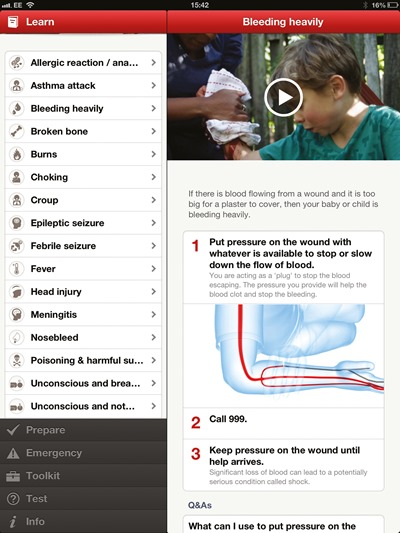 ipad App-bleeding