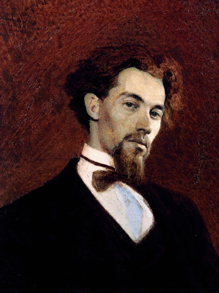 Ivan Kramskoy - Portrait of the Artist Konstantin Savitsky