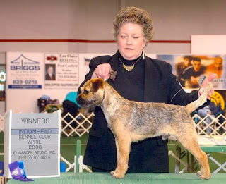 Banks taking Winners Dog at the Eau Claire Show 2008