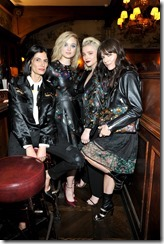 HOLLYWOOD, CA - MARCH 30:  (L-R) Stylist Maryam Malakpour, actors Bella Heathcote, Selma Blair, and Chloe Grace Moretz attend the Coach & Rodarte celebration for their Spring 2017 Collaboration at Musso & Frank on March 30, 2017 in Hollywood, California  (Photo by Donato Sardella/Getty Images for Coach)