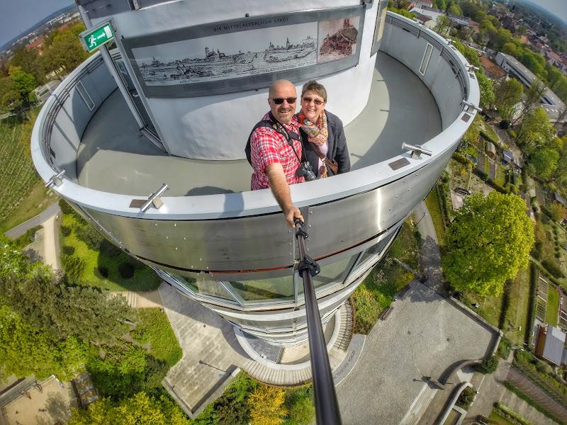Selfie mit der GoPro - oben auf der Friedenswarte
