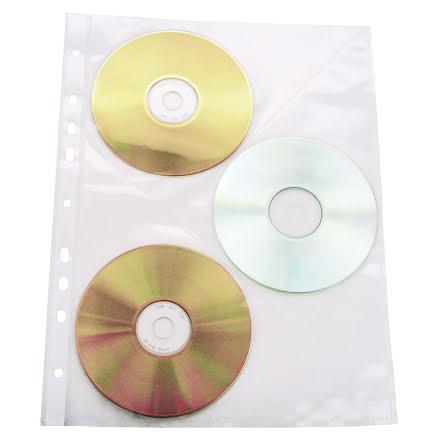 CD-ficka A4 för pärm 3CD 10/fp