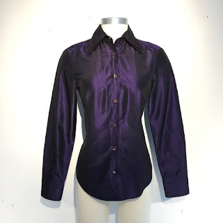 Etro Triple Collar Iridescent Blouse