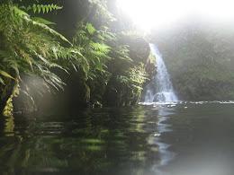 Great swimming spot below a waterfall.