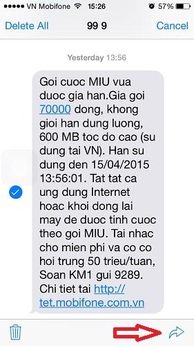Hình 2 -  Những mẹo nhắn tin Messages trên iOS 8 cho iPhone, iPad