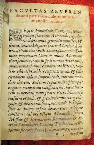 Petición de la adaptación al concilio de Trento por parte del superior de la orden Francisco Gonzaga