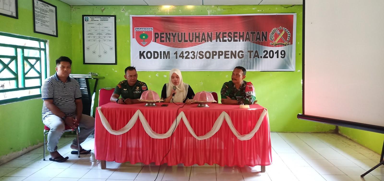 Satgas TMMD 106 Tahun 2019 Kodim 1423 Soppeng Gandeng Dinas KKBPK Gelar Kegiatan Penyuluhan KB