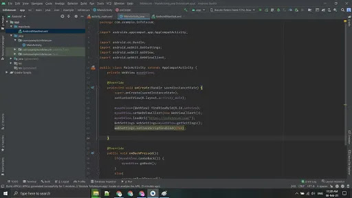android app using android studio