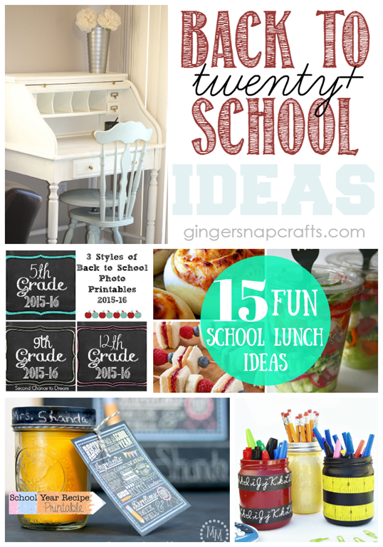 Twenty Back to School Ideas at GingerSnapCrafts.com #backtoschool #linkparty #features