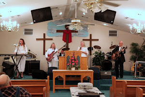 The Templet Family Band praising the Lord at Living Waters Tabernacle, Lecompte, LA