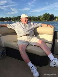 Grandpa enjoying the boat ride