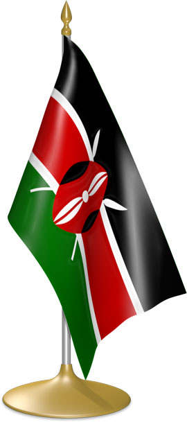 Kenyan table flags - desk flags