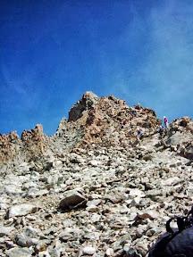 L'antécime en rocher