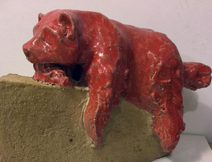 Panda Rosso gress 20x15x8 Disponibile