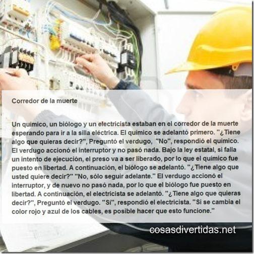 electricista en el corredor de la muert53e