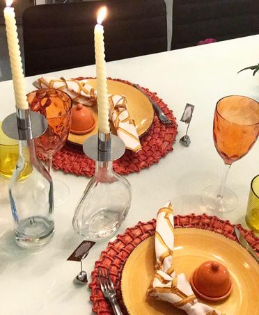 mesa posta lardocecasa laranja velas