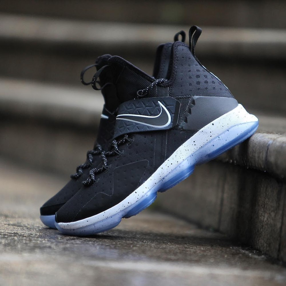 half off 436bb 32689 ... Get Up Close and Personal With Nike LeBron 14 Black Ice 921084002 ...