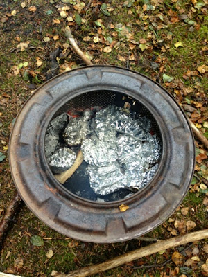 Washing Machine Drum Fire Pit - Mudpies and Foodie Quine Autumn Bramble Ramble