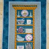 LE VAISSELIER 82 x 110 cm - piécé et quilté machine par Marie-Jo Brémond