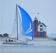 J/111 sailing into Bayview Mackinac finish line