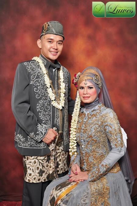 Rias pengantin muslim berhijab busana kebaya modifikasi