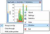أيقونة NetTraffic برنامج عربي مجانى لقياس سرعة الإنترنت واستهلاك الباندويث