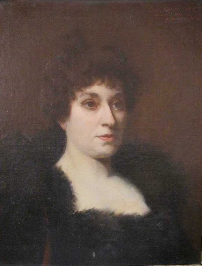 René Schützenberger - Portrait of a Woman in Black