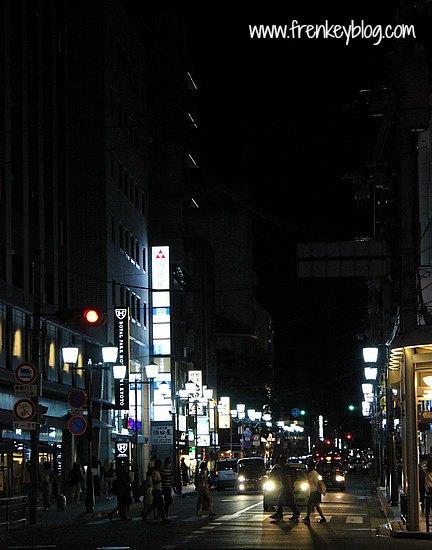 Suasana Shijo Kawaramachi Street Malam itu