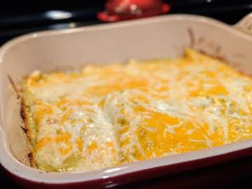 Keto Green Chili Beef Enchiladas