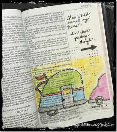 Bible Art Passing Through