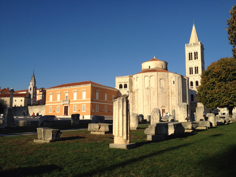 The Roman Forum with St. Donatus church and bell tower in the background