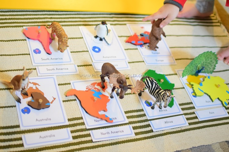 Montessori Inspired Continent Activities for Preschoolers