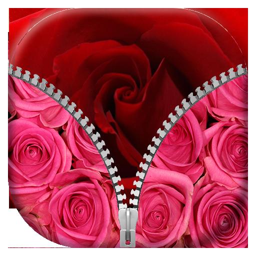 玫瑰 拉链锁屏 個人化 App LOGO-APP試玩