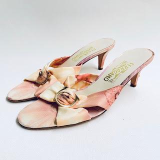 Salvatore Ferragamo Graphic Silk Sandals