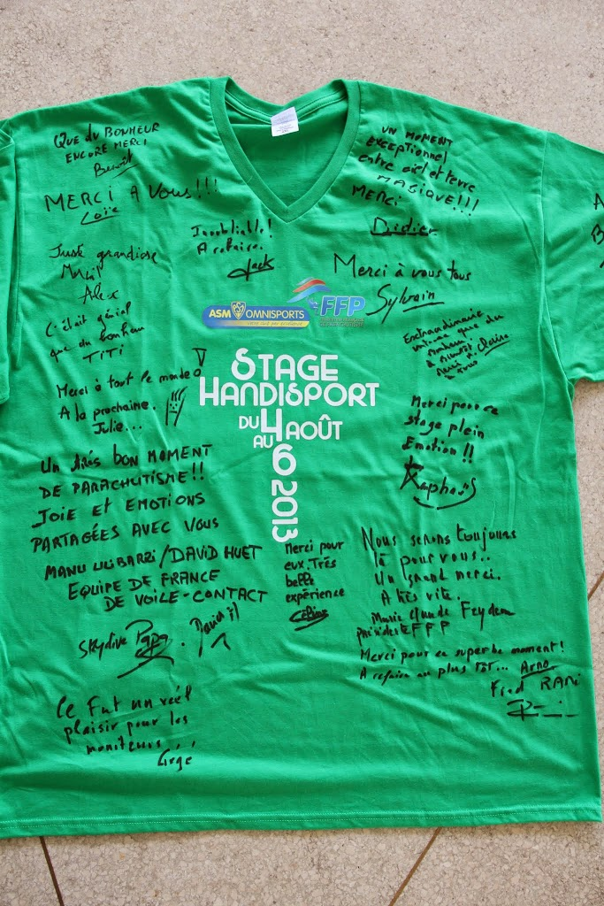 25-PARACUTISME STAGE HANDI ASM OMNISPORTS Fin du Stage Handi 6août2013