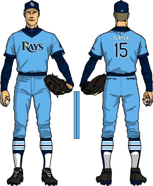 timeless design b2cf0 11053 The Ultimate Baseball Look: Tampa Bay Rays Powder Blue Uniform