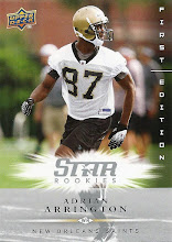 Photo: Adrian Arrington 2008 Upper Deck First Edition RC