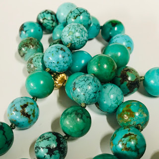 14K Gold and Turquoise Bead Necklace
