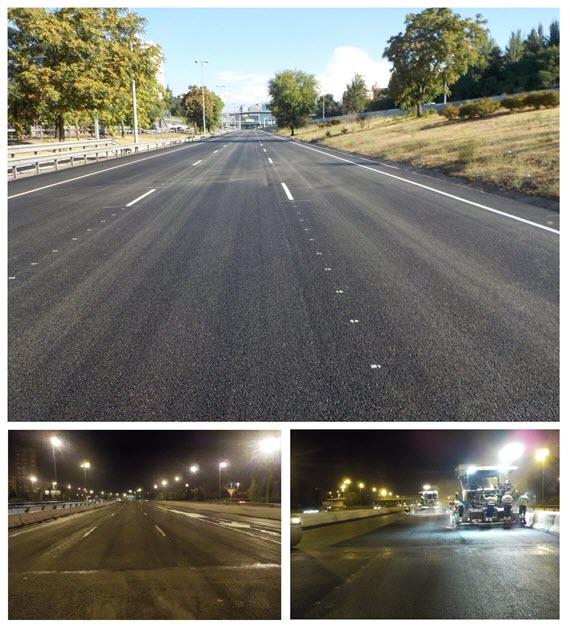 Nuevo asfalto para la M-30