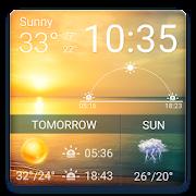 Digital clock &weather widget