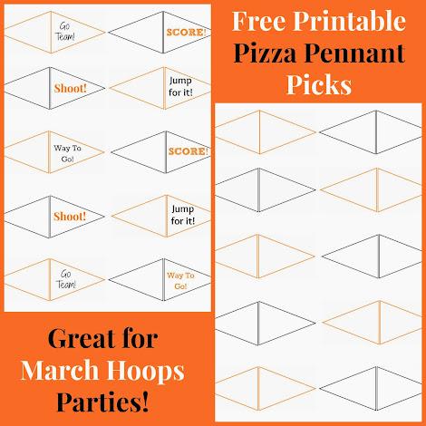 Pizza party ideas free printable pizza pennant picks templates