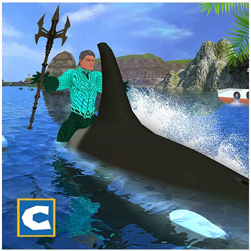 Flying Aqua Hero Vs Sea Animals
