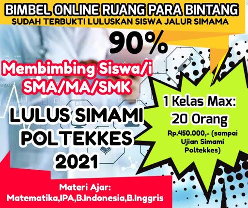 BIMBEL ONLINE  FOKUS LULUS SIMAMI (MANDIRI) POLTEKKES 2021